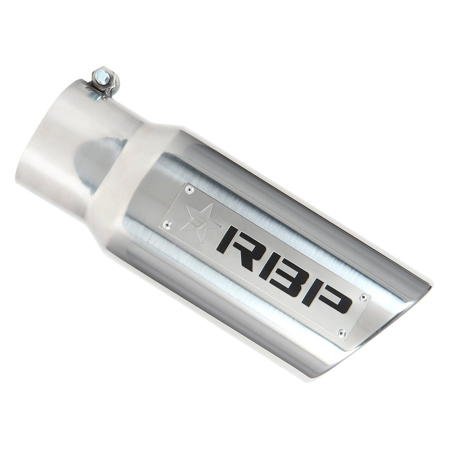 RBP RBP-35453 Polished Stainless Steel Dual-Badged Exhaust Tip