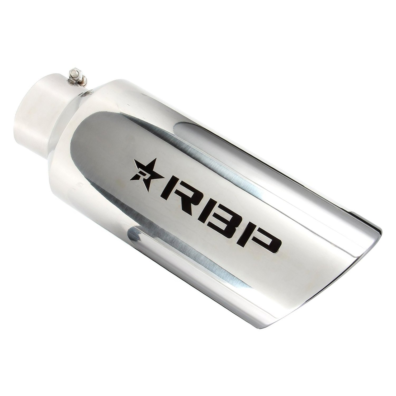 """RBP Universal 4/"""" Inlet 6/"""" Outlet Stainless Steel Silver Star Exhaust Muffler Tip"""