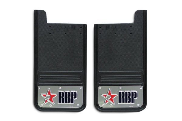 RBP® Mud Flap with Logo on Black Background