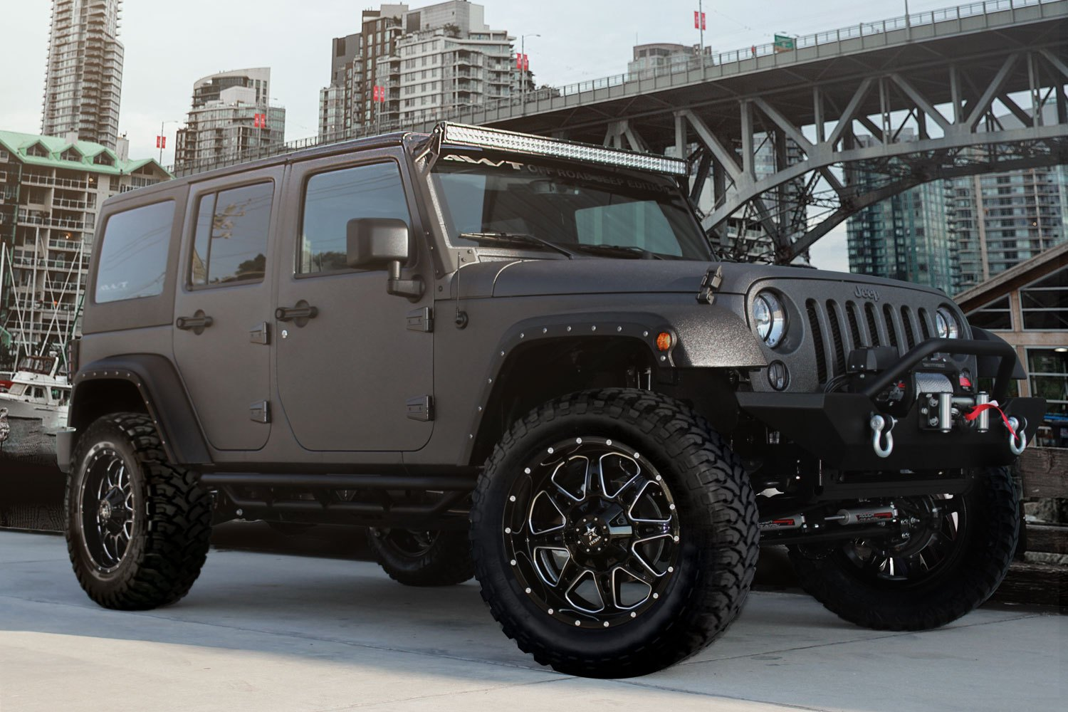 """RBP Jeep Wrangler 2012 2017 4"""" x 4"""" Front and Rear"""