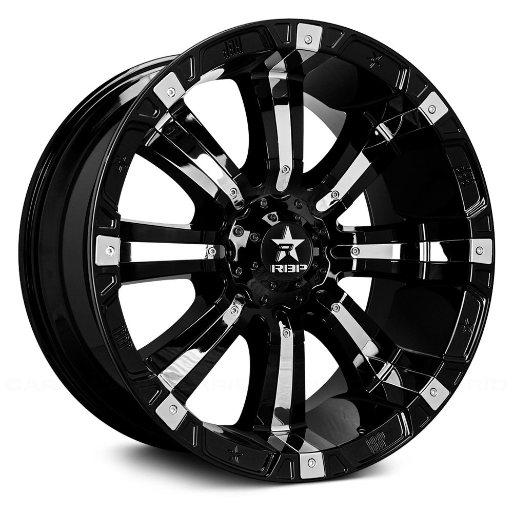 RBP® 94R Wheels - Black with Chrome Inserts Rims