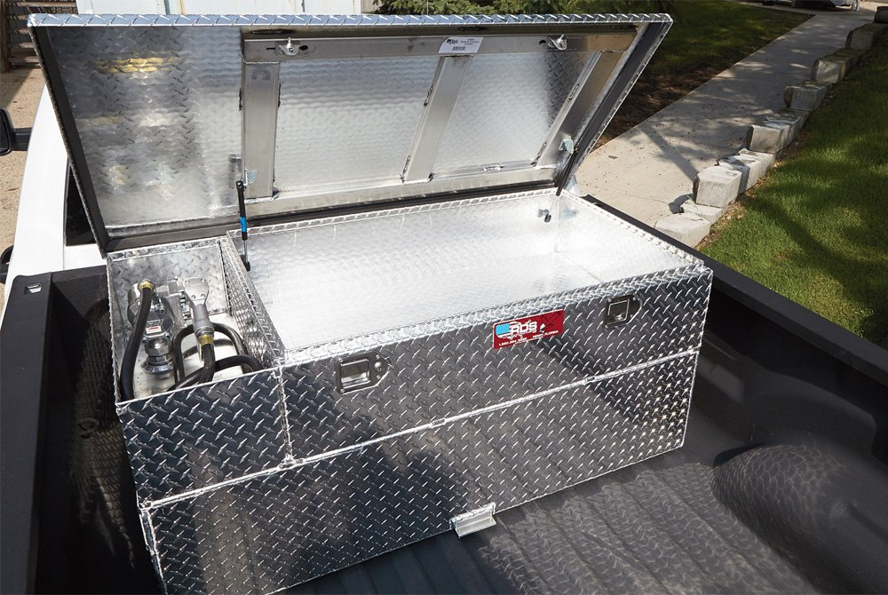 truck bed fuel transfer tanks l shaped combos transfer