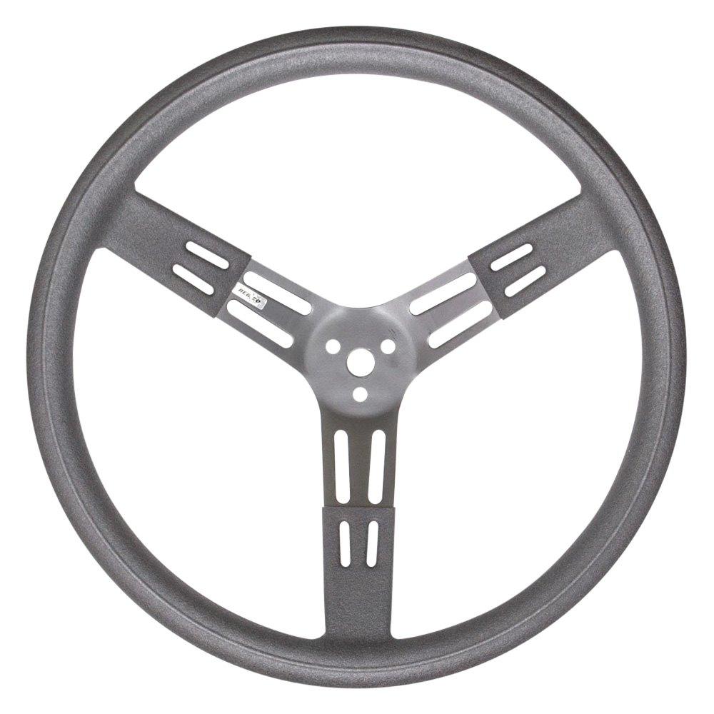 Rebco® 52-2708675 - 3-Spoke Black Smooth Grip Steel Steering Wheel