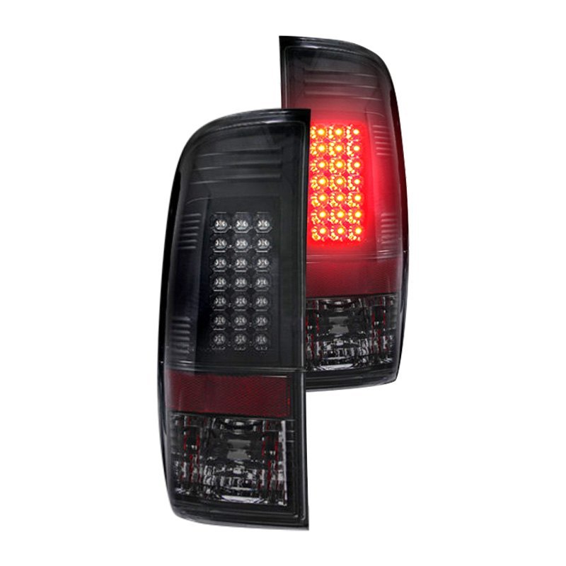 Recon 264176bk Black Smoke Led Tail Lights