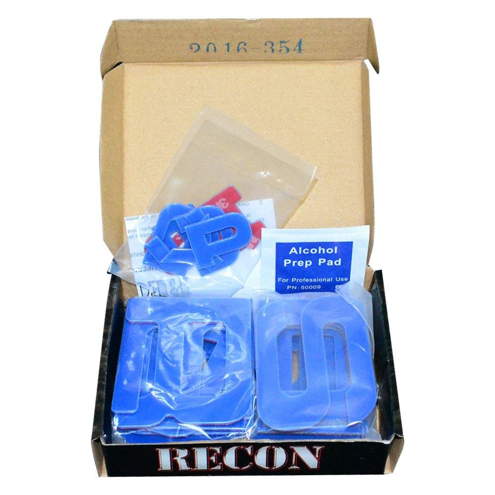Recon 264181BL Emblem Inserts