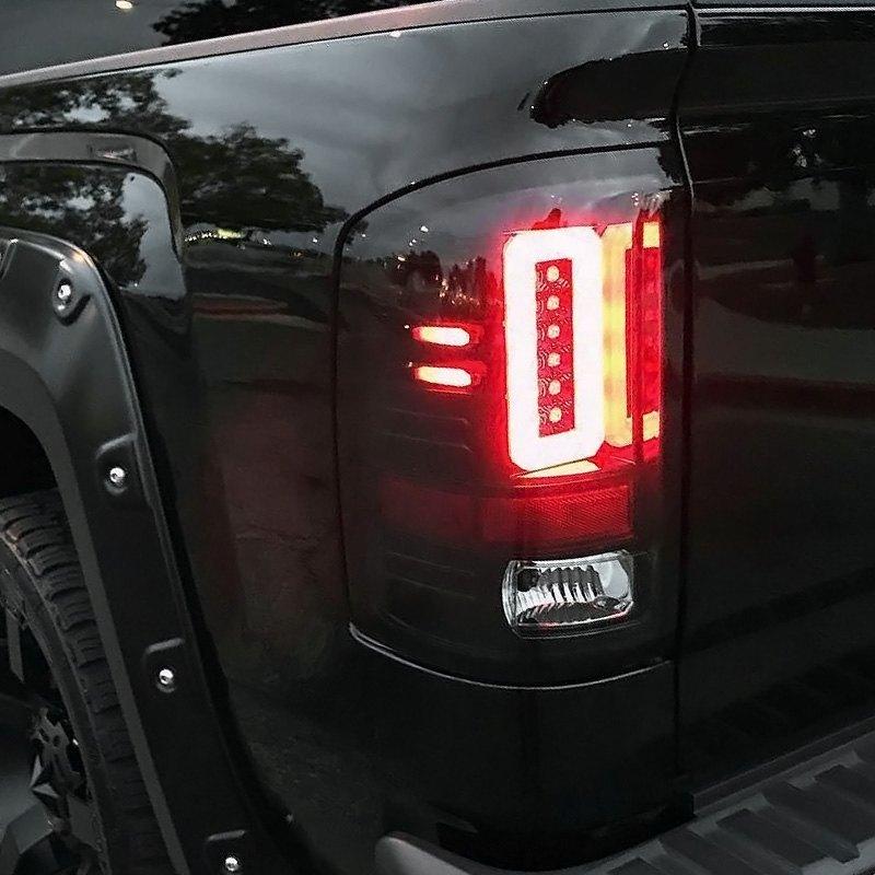 Recon 264239bk Black Smoke Fiber Optic Led Tail Lights