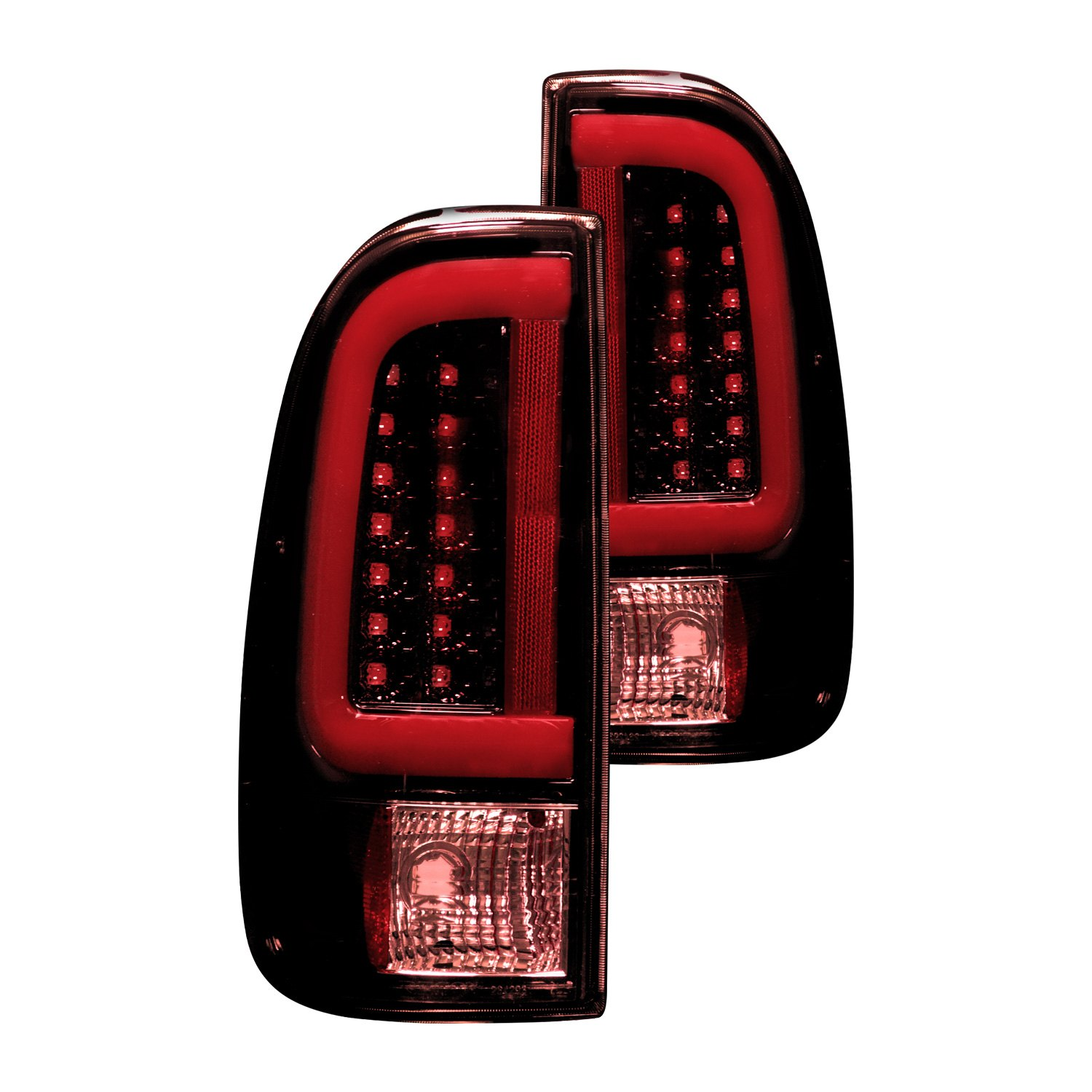 Recon Ford F 250 Super Duty 2004 Black Red Smoke Fiber Optic Led Side Mirror Tail Lights