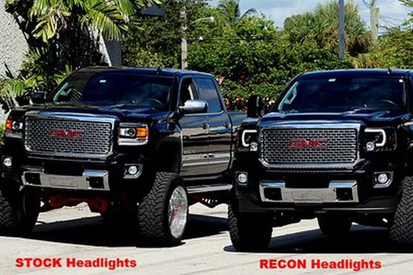 Recon 174 264295bkc Gmc Sierra With Factory Drl 2015 Black