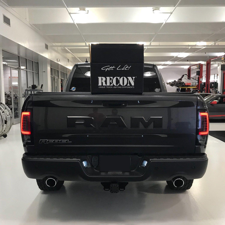 Recon Black Smoke Fiber Optic Led Tail Lights