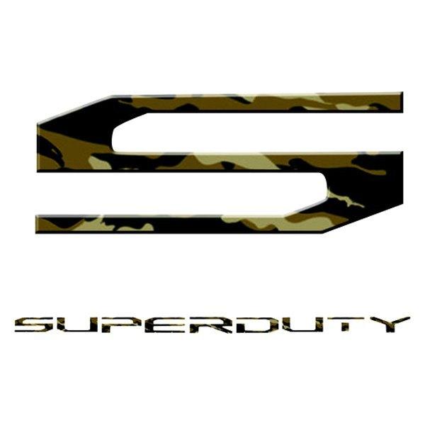 """Recon 264381WC /""""Super Duty/"""" White Camo Lettering Kit"""