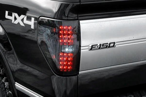recon 264168bk ford f 150 2012 black smoke led tail lights. Black Bedroom Furniture Sets. Home Design Ideas