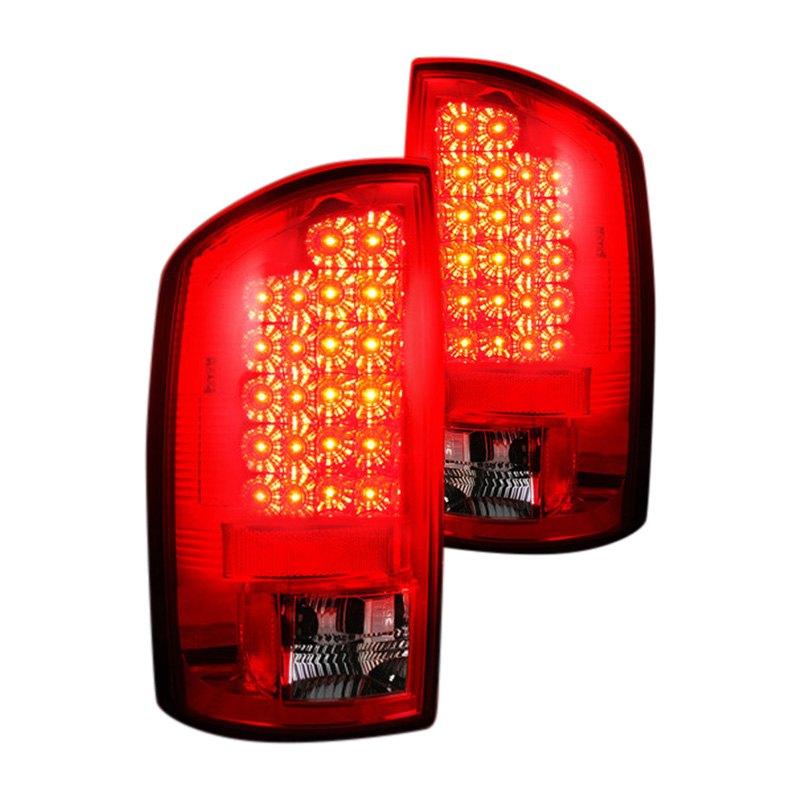 recon 264171rd dodge ram 2006 chrome red led tail lights. Black Bedroom Furniture Sets. Home Design Ideas