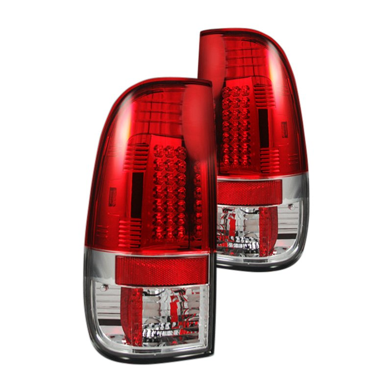 recon 264172rd ford f 150 1997 chrome red led tail lights. Black Bedroom Furniture Sets. Home Design Ideas