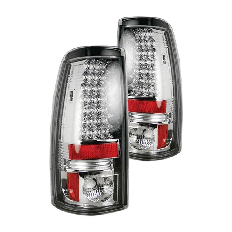 Silverado Led Lights : Recon® 264173CL - Chevy Silverado 1999 Chrome LED Tail Lights