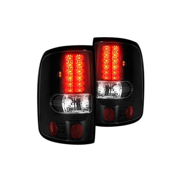recon 264178bk ford f 150 2005 black smoke led tail lights. Black Bedroom Furniture Sets. Home Design Ideas