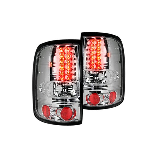 recon 264178cl ford f 150 2005 chrome led tail lights. Black Bedroom Furniture Sets. Home Design Ideas