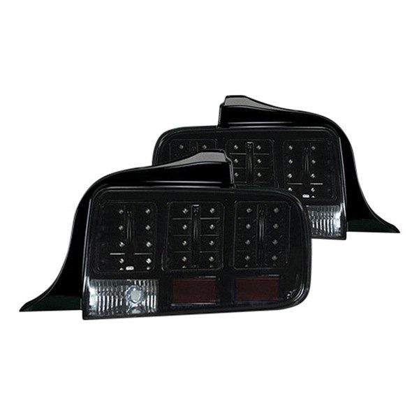 recon 264187bk ford mustang 2006 black smoke led tail. Black Bedroom Furniture Sets. Home Design Ideas