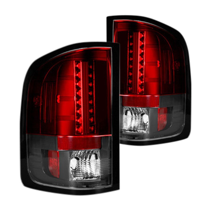 recon 264189rd gmc sierra 2007 red led tail lights. Black Bedroom Furniture Sets. Home Design Ideas