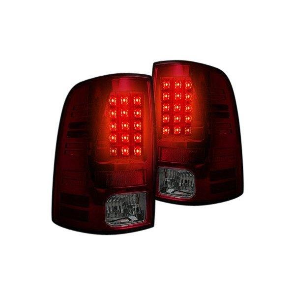 Recon Dodge Ram 1500 2500 3500 2014 Chrome Red Smoke Led Tail Lights
