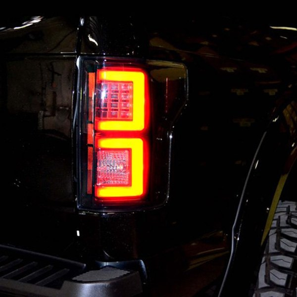 recon ford f 150 2015 black smoke led tail lights. Black Bedroom Furniture Sets. Home Design Ideas