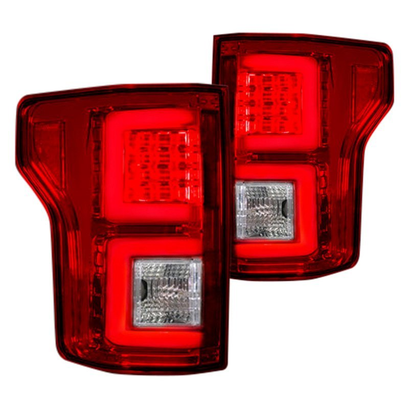 recon 264268rd ford f 150 2016 black red led tail lights. Black Bedroom Furniture Sets. Home Design Ideas