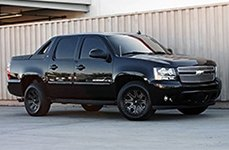RED DIRT ROAD® - RD04 USA Satin Black with Machined Face on Chevy Avalanche