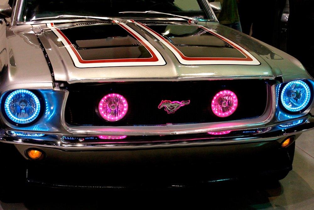 Redline Lumtronix Round Diamond Cut Color Halo Headlights