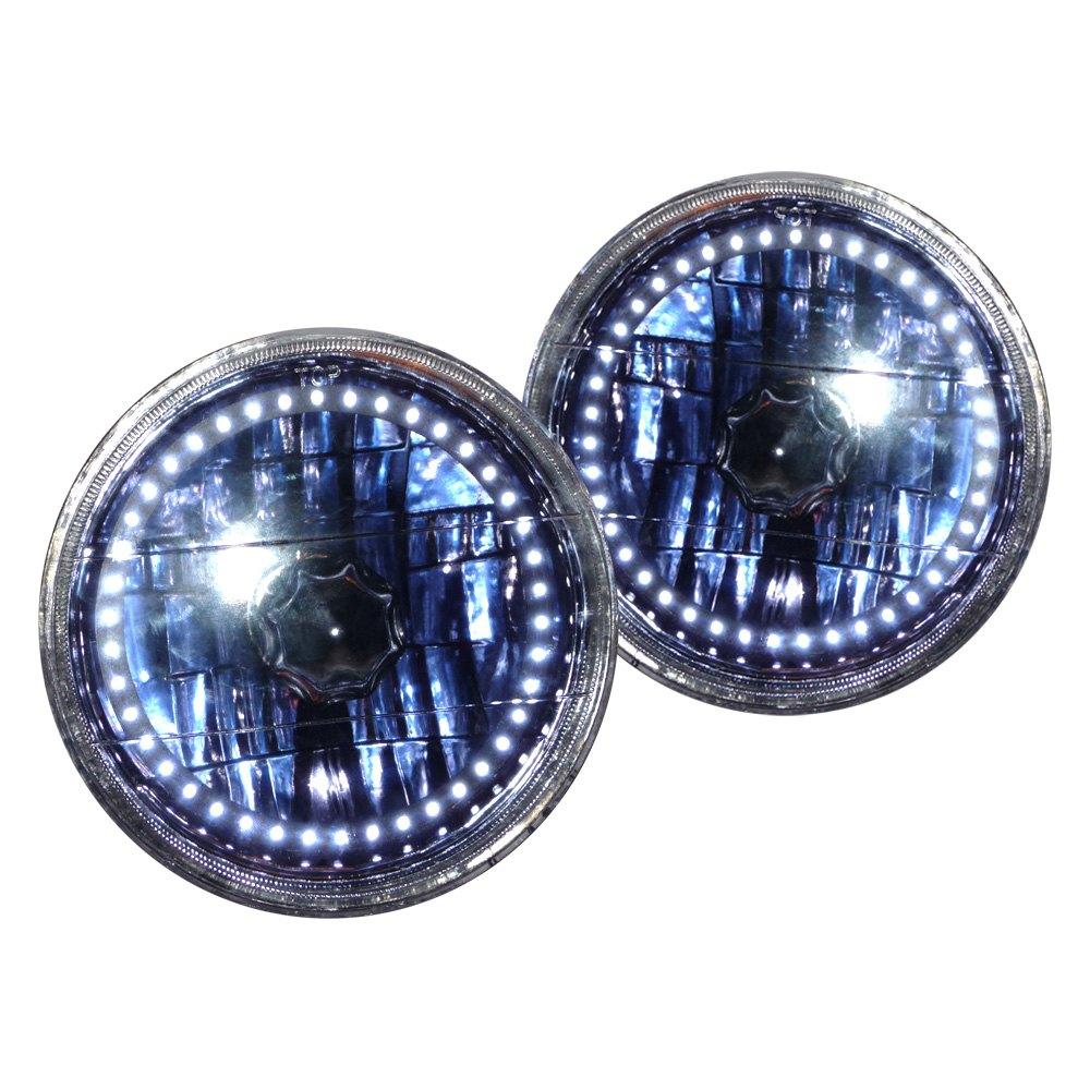 redline lumtronix bmw 3 series 1987 5 3 4 round chrome elite diamond cut halo euro. Black Bedroom Furniture Sets. Home Design Ideas