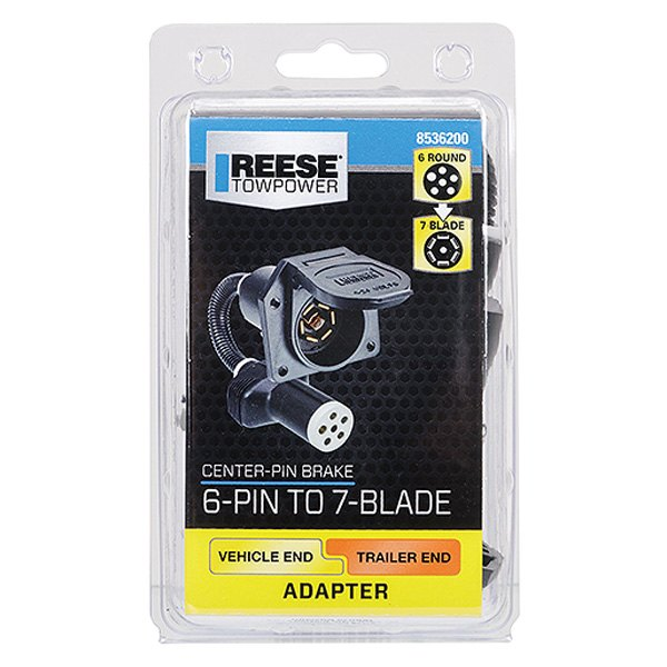 Reese Towpower 8536200 6 7-Blade Trailer Adapter with Center Pin Brake