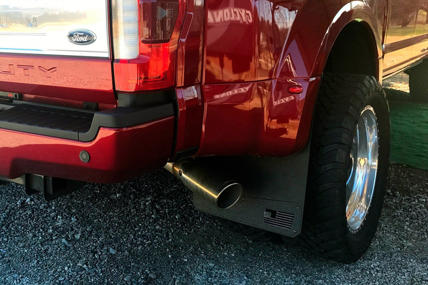 Rek Gen Merica Mud Flaps Dually Red Flag