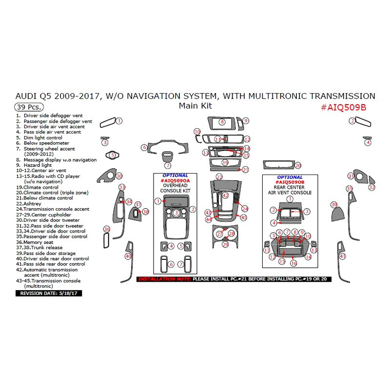 remin u00ae  o navigation system 2013 main dash kit