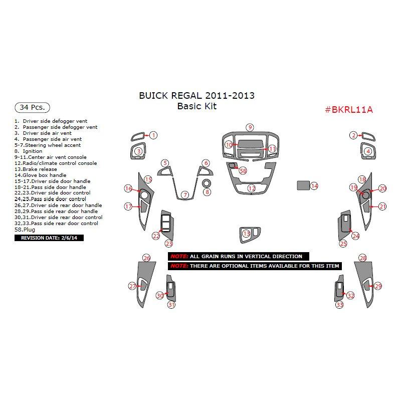 2013 Buick Regal Suspension: Buick Regal 2013 Basic Dash Kit