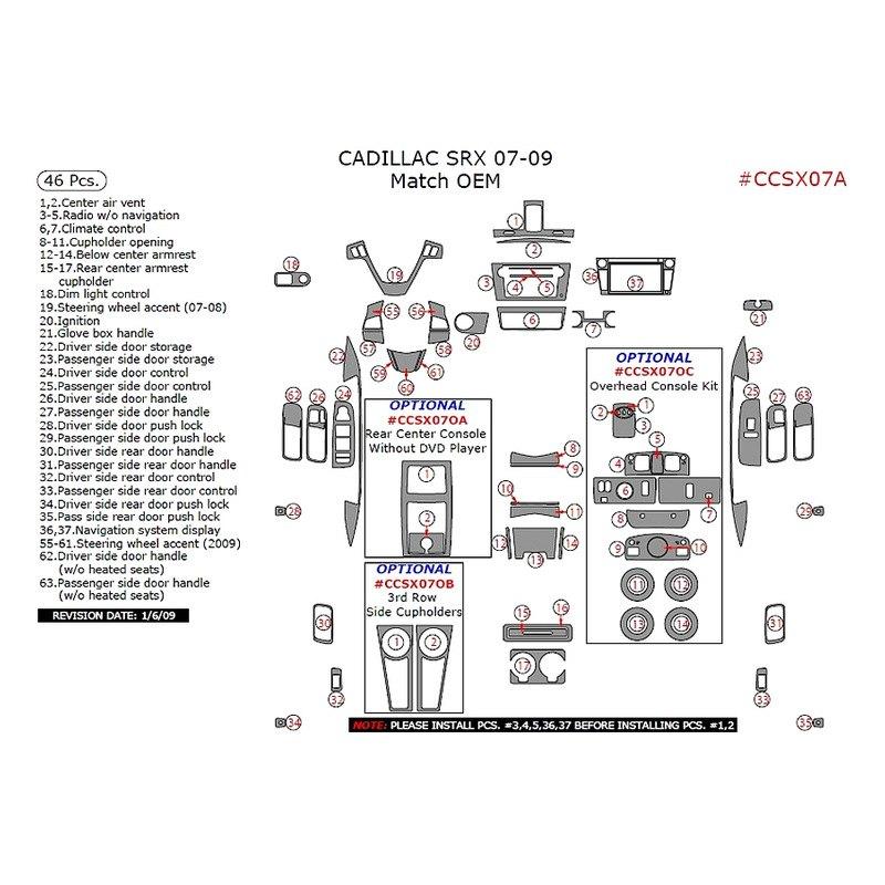 Remin Cadillac Srx 2007 2009 Main Dash Kit