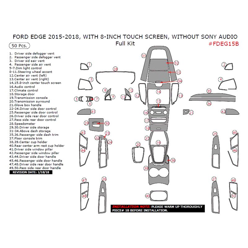 ford edge accessories parts at carid com