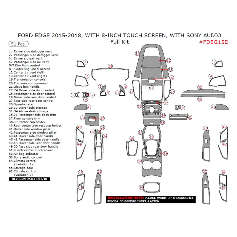 Remin Full Dash Kit  Pcs