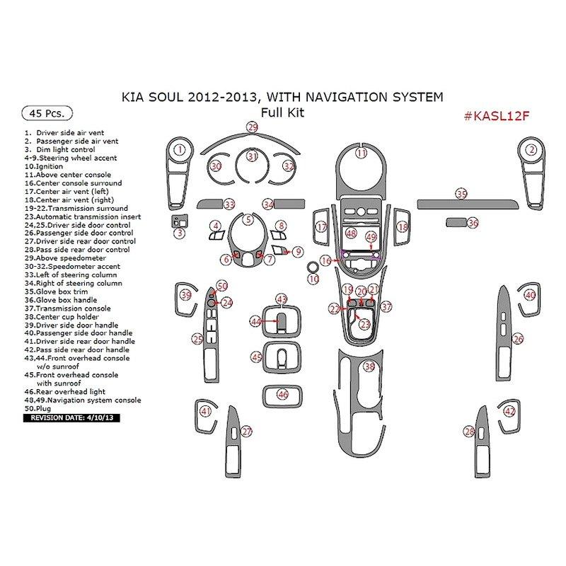 2012 Kia Soul Exterior: Kia Soul 2012 Full Dash Kit