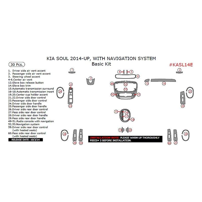 Remin Kia Soul 2014 Basic Dash Kit Carid Com