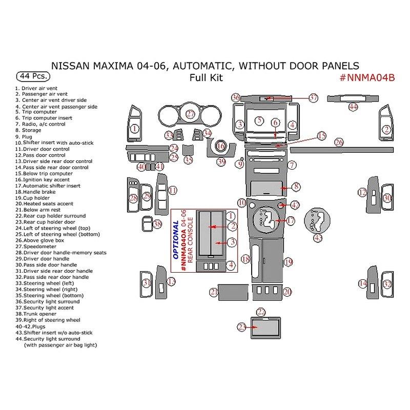 nissan maxima accessories parts at carid com