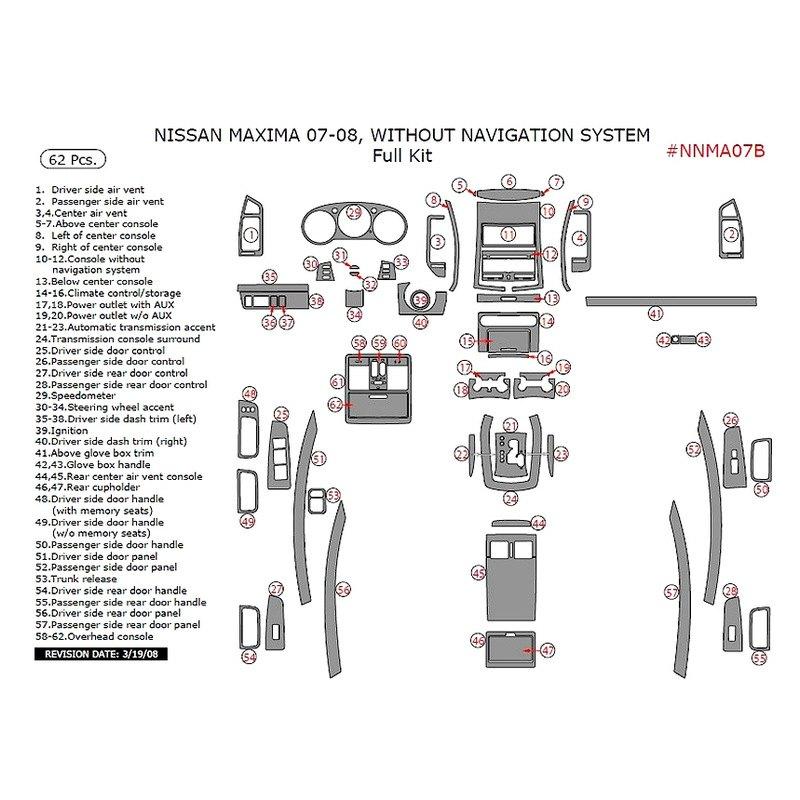 Remin Nissan Maxima 2007 Full Dash Kit