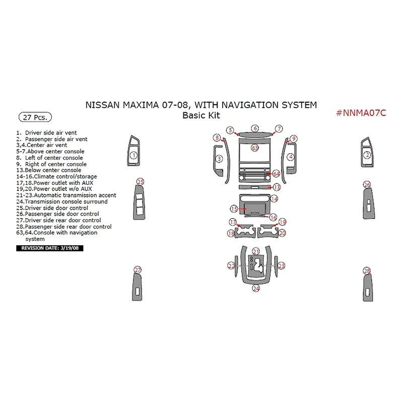 Remin Nissan Maxima 2007 Basic Dash Kit