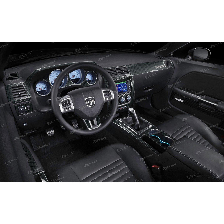 Aluminum or Carbon Fiber Dash Kit Trim Parts Fits Dodge Avenger 08-14 Wood