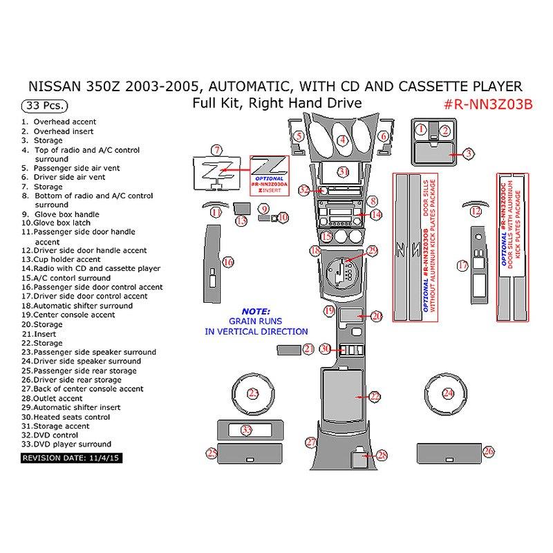 Remin Nissan 350z 2003 2005 Full Dash Kit