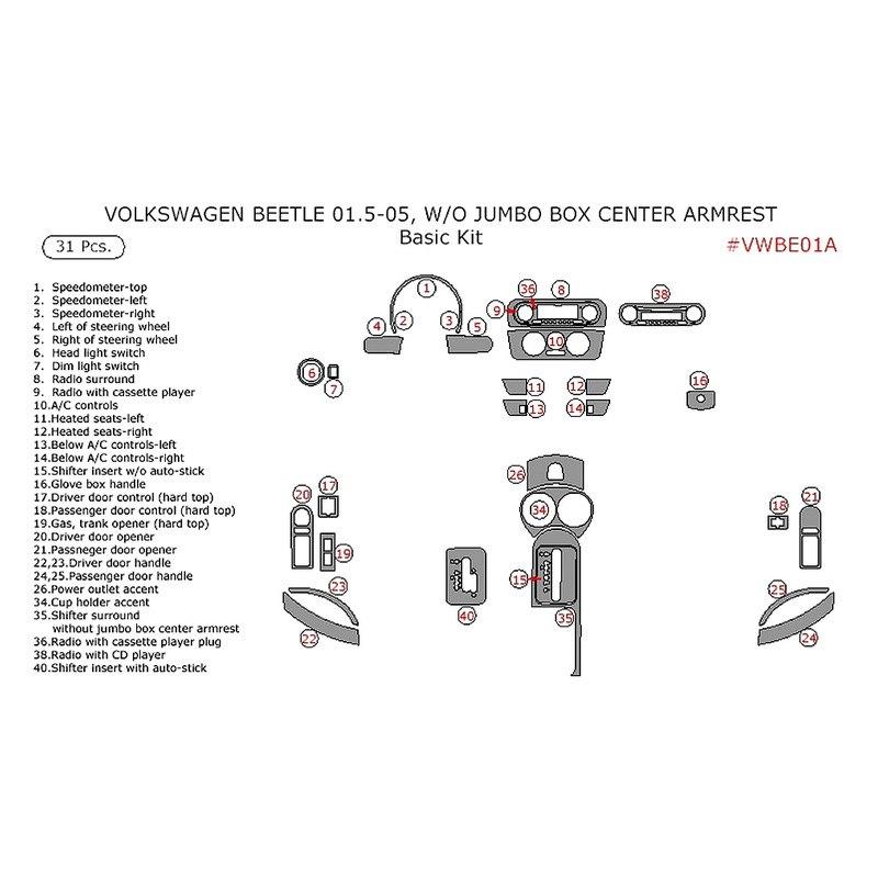 Remin Volkswagen Beetle 2001 Basic Dash Kit