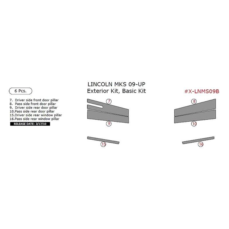 Lincoln Mks Parts: Lincoln MKS 2009 Exterior Kit