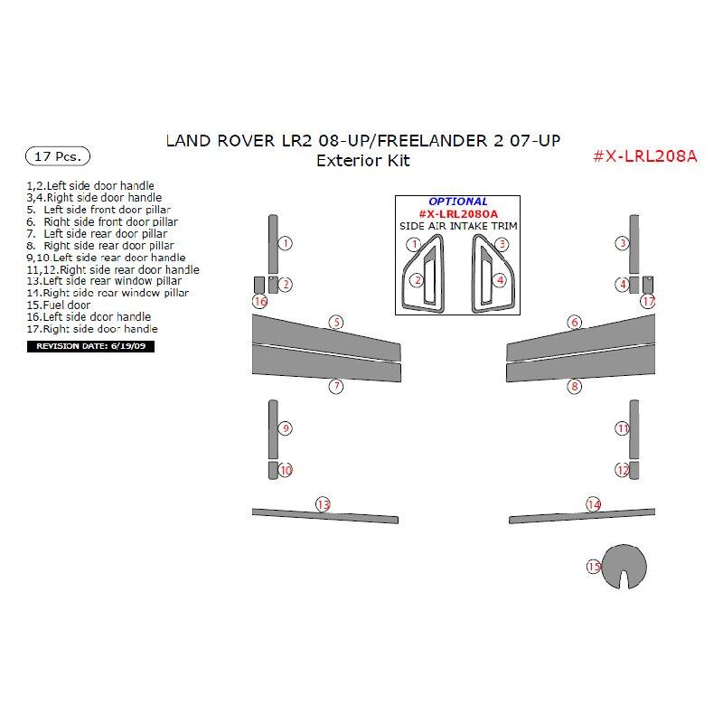 2008 Land Rover Lr2 Interior: Land Rover LR2 Left Hand Drive 2008 Exterior Kit