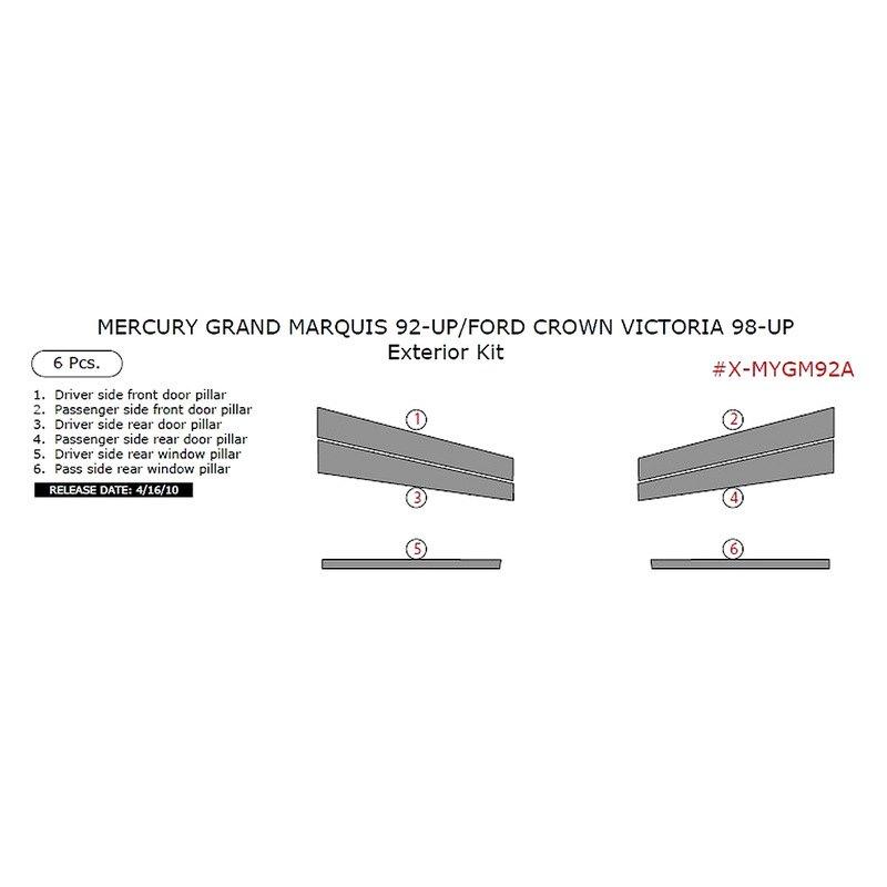 remin mercury grand marquis 2004 exterior kit. Black Bedroom Furniture Sets. Home Design Ideas