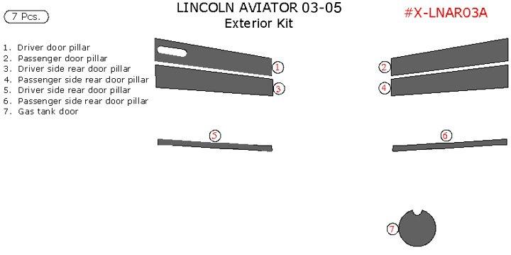 2005 lincoln aviator body parts