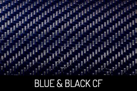 Blue and Black Carbon Fiber