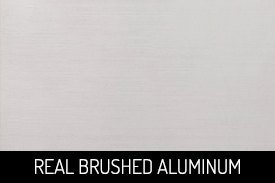 Real Brushed Aluminium