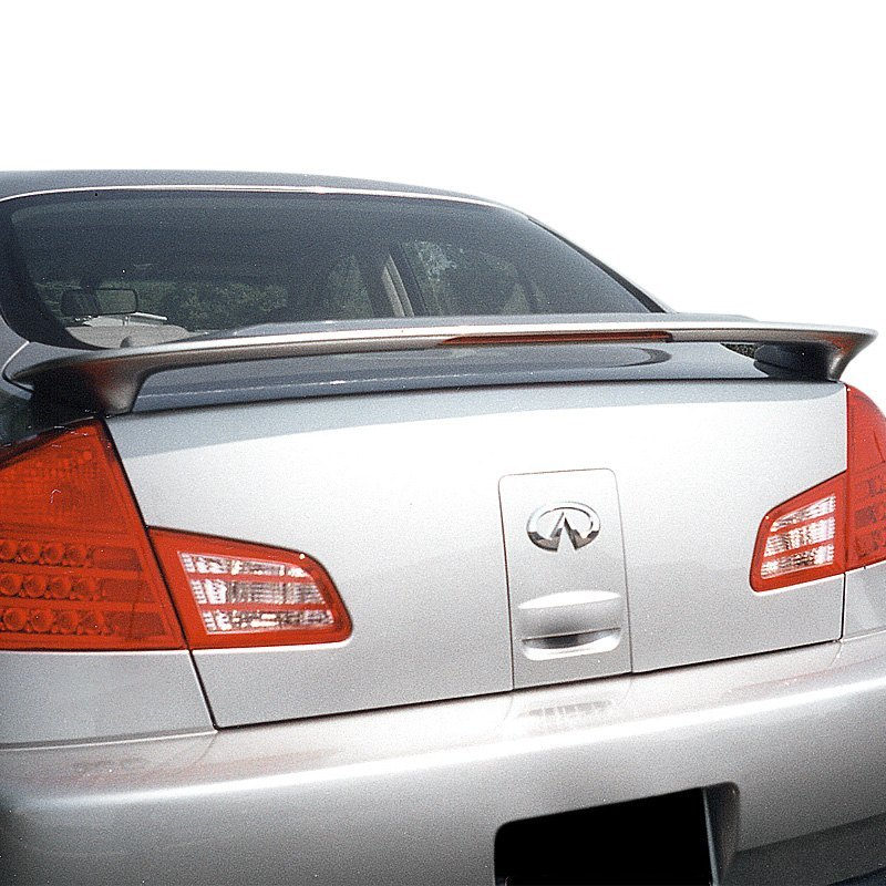 Car Paint Shops Prices >> Remin® - Infiniti G35 4 Doors 2003-2006 Factory Style Rear Spoiler with Light